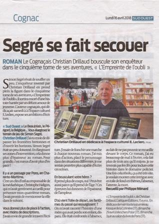 Sud ouest avril 2018